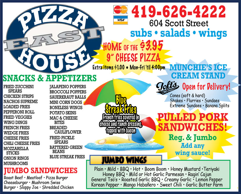 Pizza House East daily specials
